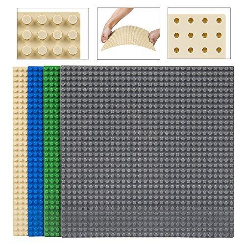 YazyCraft - Cinta adhesiva de doble cara (paquete de valor, 25,4 x 25,4 cm, para construir ladrillos/bloques, 100% compatible...