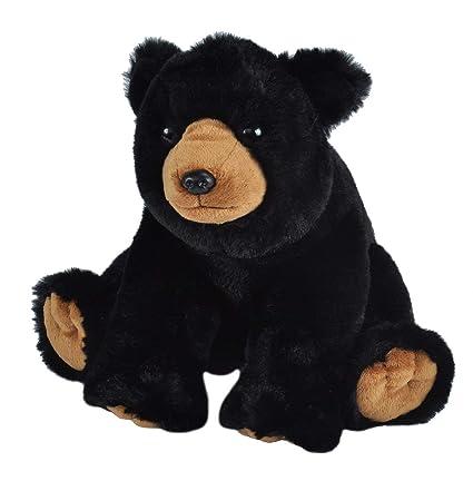 E-Chariot Soft Toys Black Bear Plush Stuffed Animal Cuddlekins by Wild Republic (10901) 12 Inches