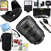 Nikon (2147) 17-55mm F/2.8G ED-IFAF-S DX Zoom Lens + 64GB Ultimate Filter & Flash Photography Bundle