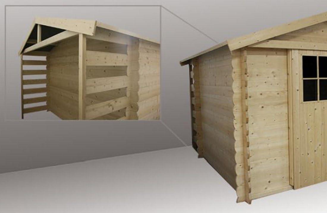 Alpholz - Cobertizo para jardín (madera de abeto, 300 x 240 cm, incluye tela asfáltica, sin tratamiento de color): Amazon.es: Jardín