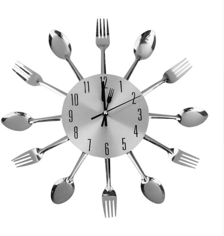 Shuangklei Cuchara Tenedor Reloj De Pared para Cocina Comedor Decoración: Amazon.es: Hogar