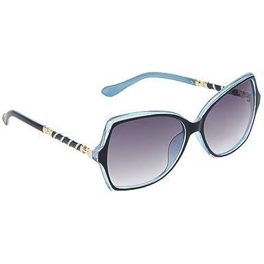 c511cd6287 Hrinkar queen bee rectangular grey lens black blue frame sunglasses for  women clothing accessories jpg 385x385
