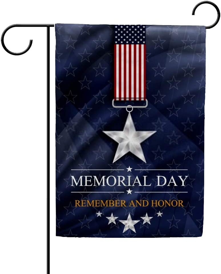 ZHONGJI Garden Flags Memorial Day Celebration Patriotism Decorative Yard Flags Double Sided Design Home Outdoor Decor All Seasons Holidays