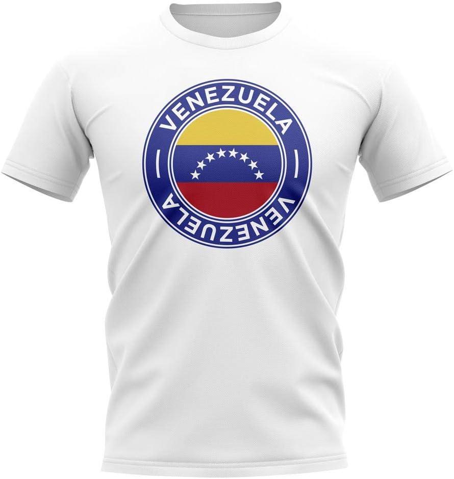 Airosportswear - Camiseta de fútbol, diseño de la Bandera de Venezuela (Color Blanco), Hombre, Color Blanco, tamaño Womens XXL (Size 18-40