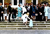 Vintage photo of Princess Marie-Chantal and her husband Prince Pavlos of Greece, along with the family during the baptism of Constantin Alexios