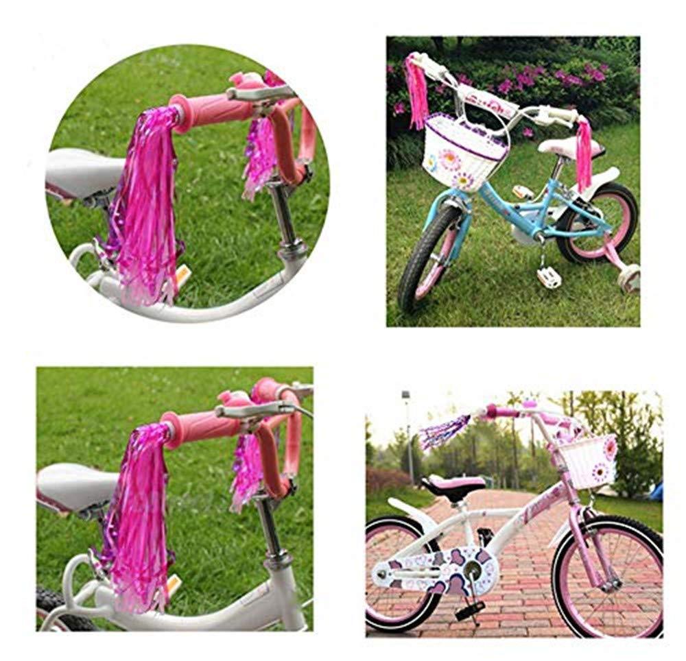 Pack of 10 CHUANGRONG-US Bicycle Tassel Ribbon Bike Handlebar Scooter Streamers for Kid//Boy//Girl