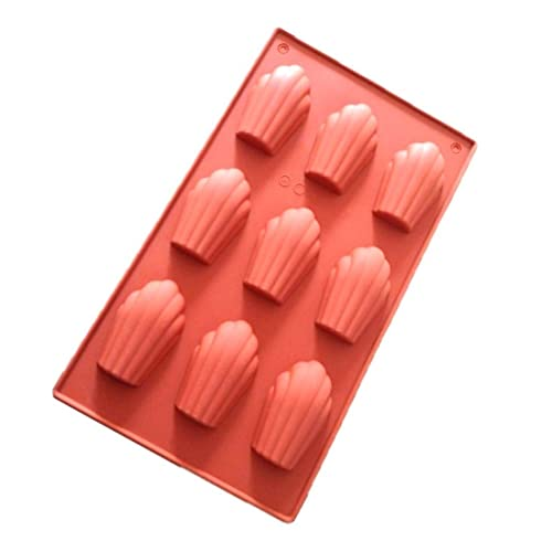 Allforhome Non Stick 9 Cavity French Madeleine Silicone Cake Tin shell chololate cookie mould candy mold ice cube tray