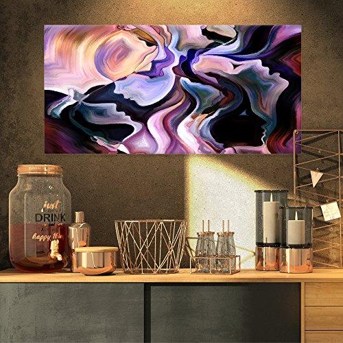 Designart Voyages to Inner Self-Canvas Art Print-32×16, 32×16 Purple