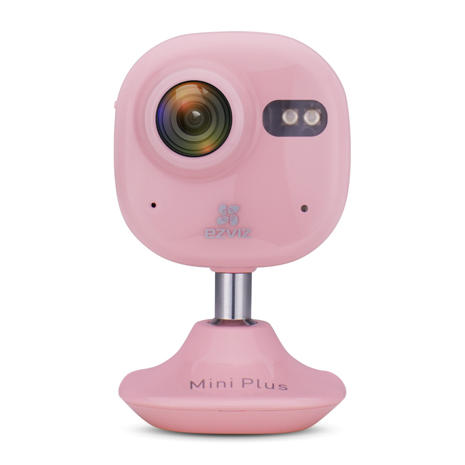 EZVIZ Mini Plus Wide Angle HD 1080p Wi-Fi Indoor Home Video Monitoring Security Camera, Works with Alexa, Baby Monitor, Nanny Cam, Night Vision, 2 Way Talk, Pink