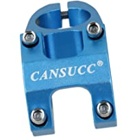 Imported Adjustable Bicycle MTB Alloy Short Handlebar Stem Riser Fixed 31.8mm Blue