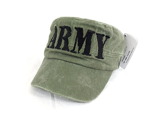 Image Unavailable. Image not available for. Color  Army Cap Embroidered Hat  Castro style 8500272d44d
