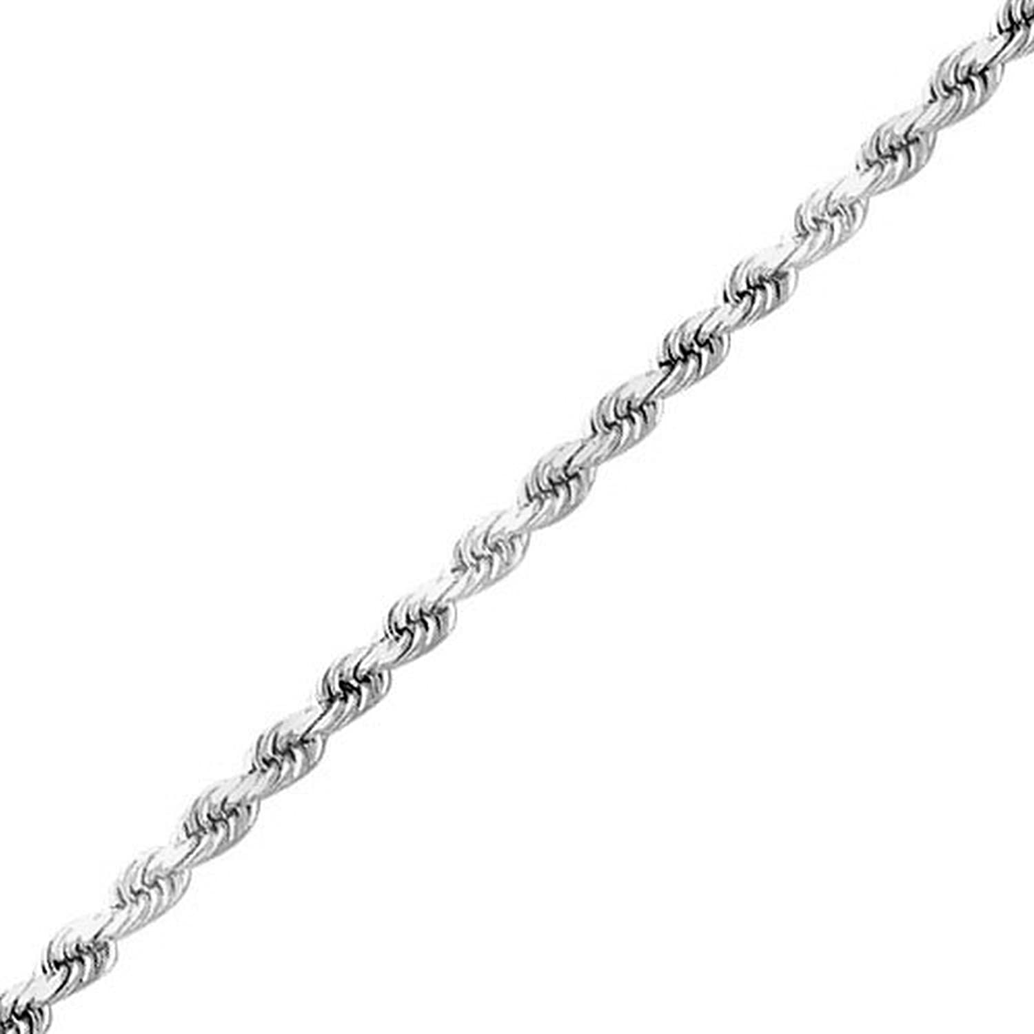 Sterling Silver 1.4mm Rope Chain Italian Kezef Creations CHRP030-10