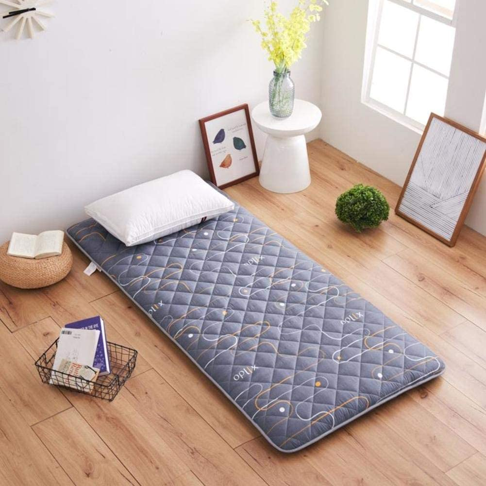 MM-CDZ Soft Folding Tatami Floor Mat,Sanding Quilting Japanese Futon Mattress Pad,Breathable Bed Topper Ergonomic Sleeping Cooler for Home Student Dormitory-c Twin