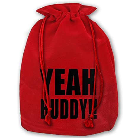 Amazon.com: Yeah Buddy Navidad Oro Cordón Elástico bolsas de ...