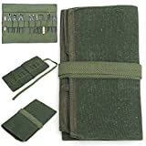 ERTIANANG 600x430mm Hand Tool Storage Roll Bag Pouch Holder Canvas Tool Bag Pack for Repairing Tool Army Green