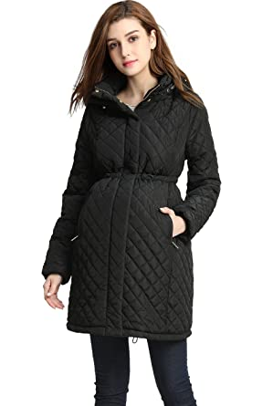 Momo Maternity Prue Quilted Parka Coat at Amazon Women's Clothing ...