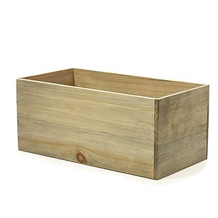 Amazon.com: Woodland - Macetero de madera de barro rústico ...