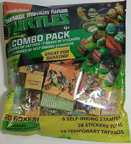 Nickelodeon Teenage Mutant Ninja Turtles Combo Pack Includes 7 Boxes of Tattoos, 7 Boxes of Stickers, & 6 Boxes of Stampers -