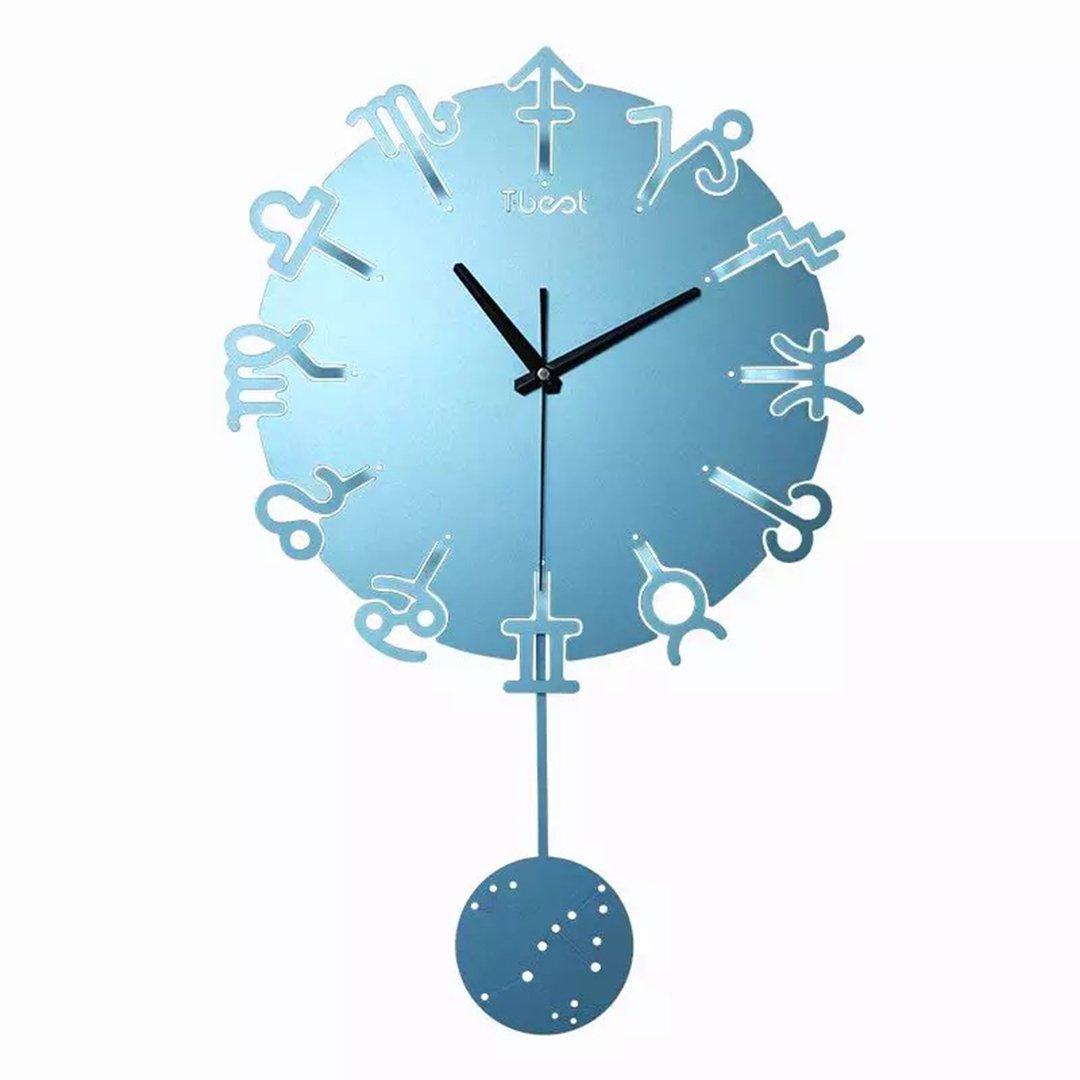掛時計 壁掛 金属 12星座のマーク け リビング 時計 掛け時計 リビング シンプル おしゃれ SFANY B07D74BMXC