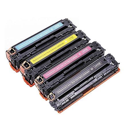 MALPYQA Compatible con el Cartucho de tóner HP CB540A para ...