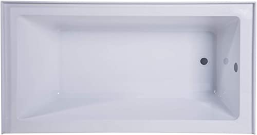 Fine Fixtures Acrylic Fiberglass Soaking Bathtub, Exclusive Extra Small Size 48 x 32 , Alcove Apron Front Right Hand