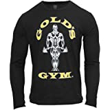 2016 Gold's Gym Muscle Joe Long Sleeve Crew Fitness T-Shirt Mens Training Sport Top