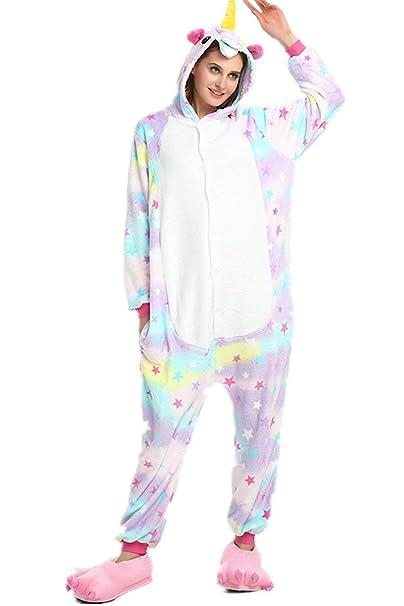 09bf1f3254 Unicornio Pijamas de Pijamas para Mujer de Pijama para Hombre Adulto  Cosplay (XL
