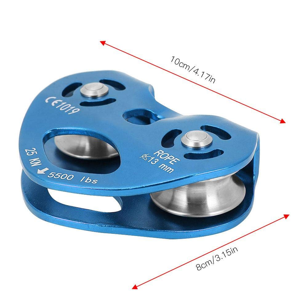 Climbing Pulley Alloy Constructed Single Swivel Rope Pulley Block for Hitch Tending Rigging Arborist Safety Equipment