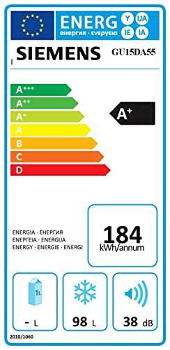 Siemens GU15DA55, 220-240 V, 50 Hz, A+, 193 kWh/year, 90 W, 38 Db ...