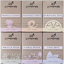 ArtNaturals Natural Soap Bar Set - (6 x 4 oz) - Infused with Jojoba Oil - for All Skin Types - Body and Face - Tea Tree, Lavender, Eucalyptus, Lemon, Grapefruit and Orange, - Men and Women