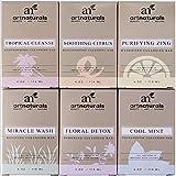 Art Naturals® 6 Piece Soap Bar Set 4.0 oz Each | 100% Natural & Infused with Jojoba Oil - Best for all Skin Types, Body & Face, Men & Women (Tea tree, Lavender, Eucalyptus, Lemon, Grapefruit & Orange)