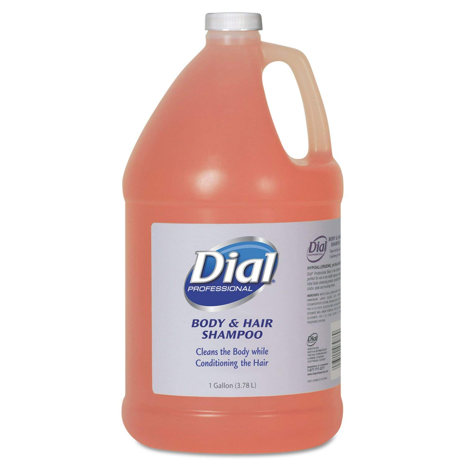 Dial Professional 03986 Body and Hair Care 1gal Bottle Gender-Neutral Peach Scent 4/Carton