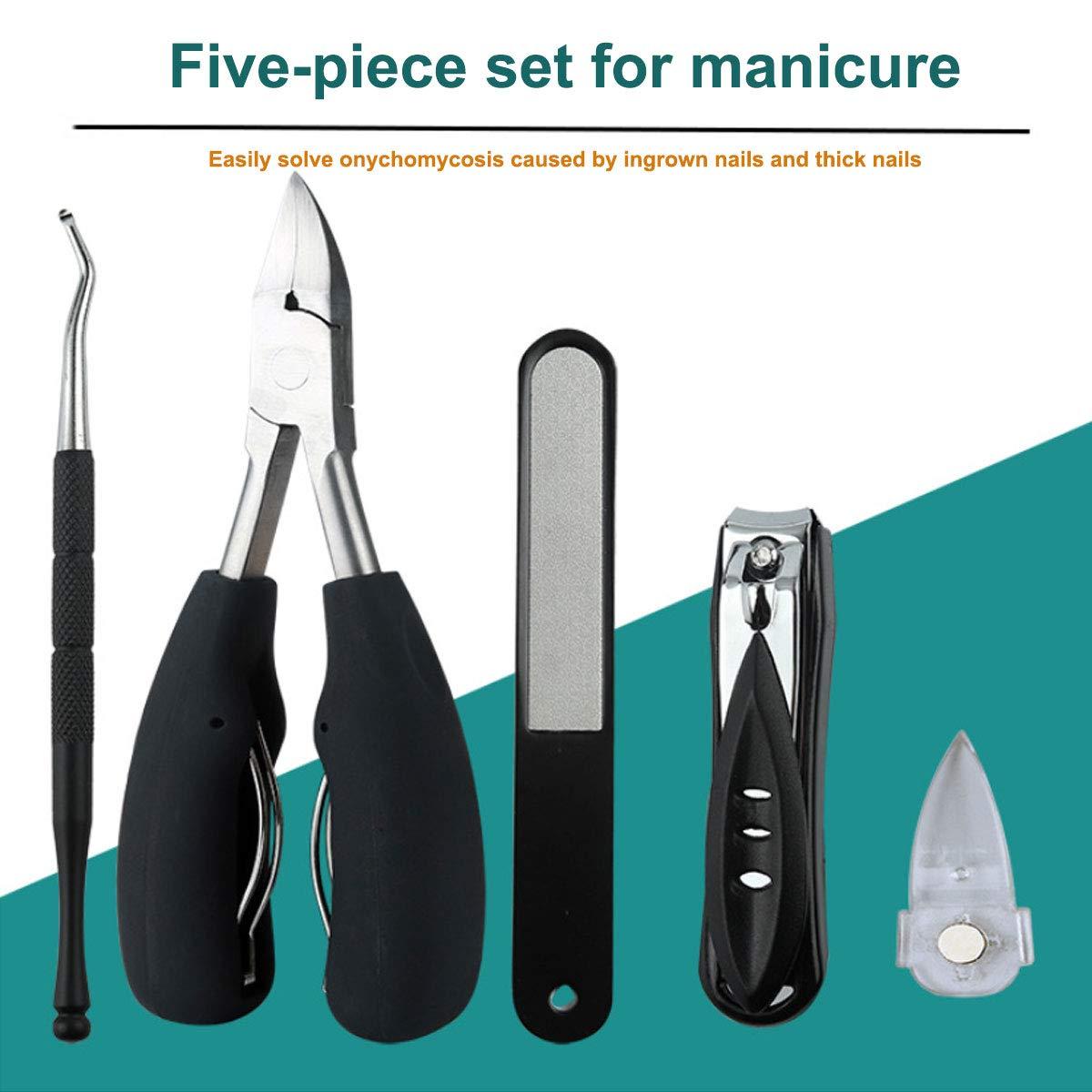 Adofect 5 PCS Toenail Clipper Professional Toenail Cutter Trimmer Set for Ingrown or Thick Toenails, Podiatrist Toenail Tools: Beauty