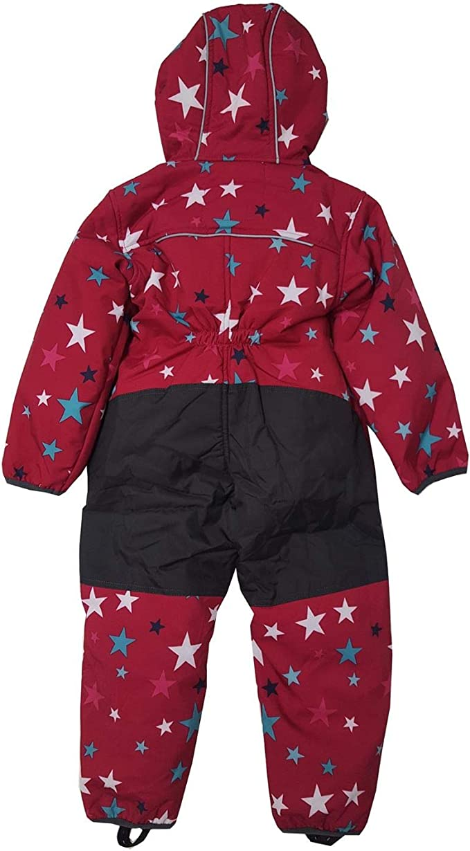 Outburst Baby Kinder Jungen Softshell-Overall Schneeanzug gef/üttert wasserdicht 10.000 mm Wassers/äule atmungsaktiv Winddicht rot//anthrazit 14438169