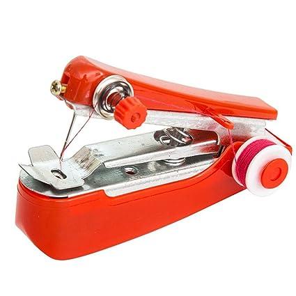 Mini máquina de coser, Hunpta portátil de agujas inalámbricas Mini mano de tela de ropa
