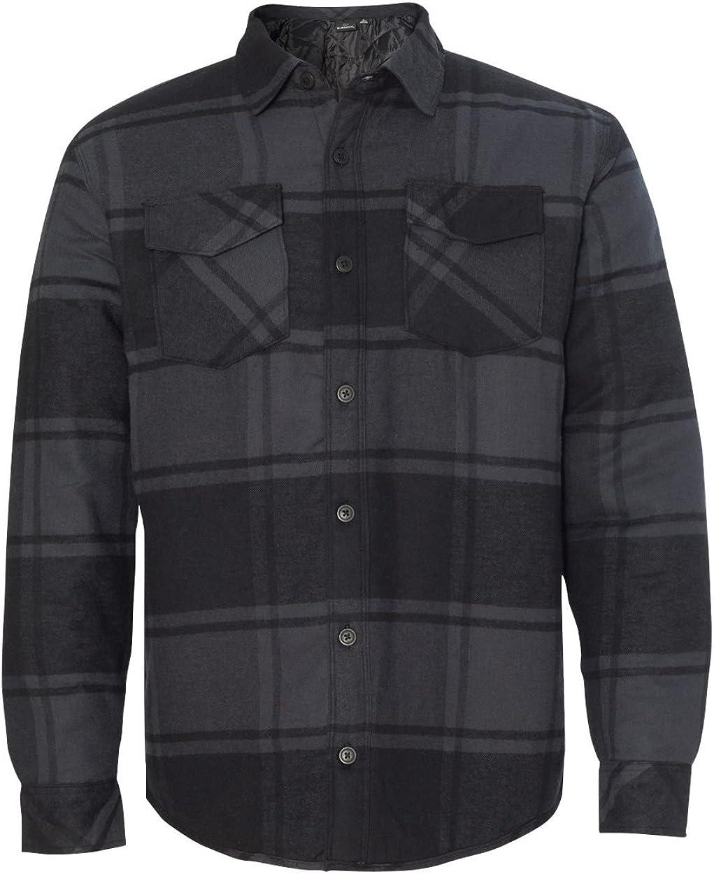 Burnside mens Quilted Flannel Jacket (8610): Burnside: Clothing