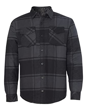 Amazon.com: Burnside mens Quilted Flannel Jacket (8610): Clothing : quilted flannel shirt jacket - Adamdwight.com