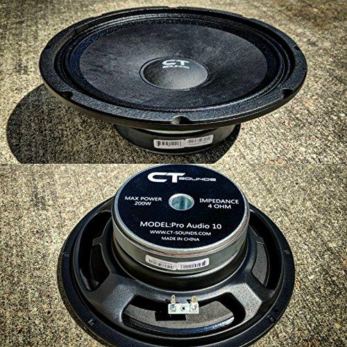 CT Sounds Shallow Pro Audio 10 Inch Car Audio PA Car