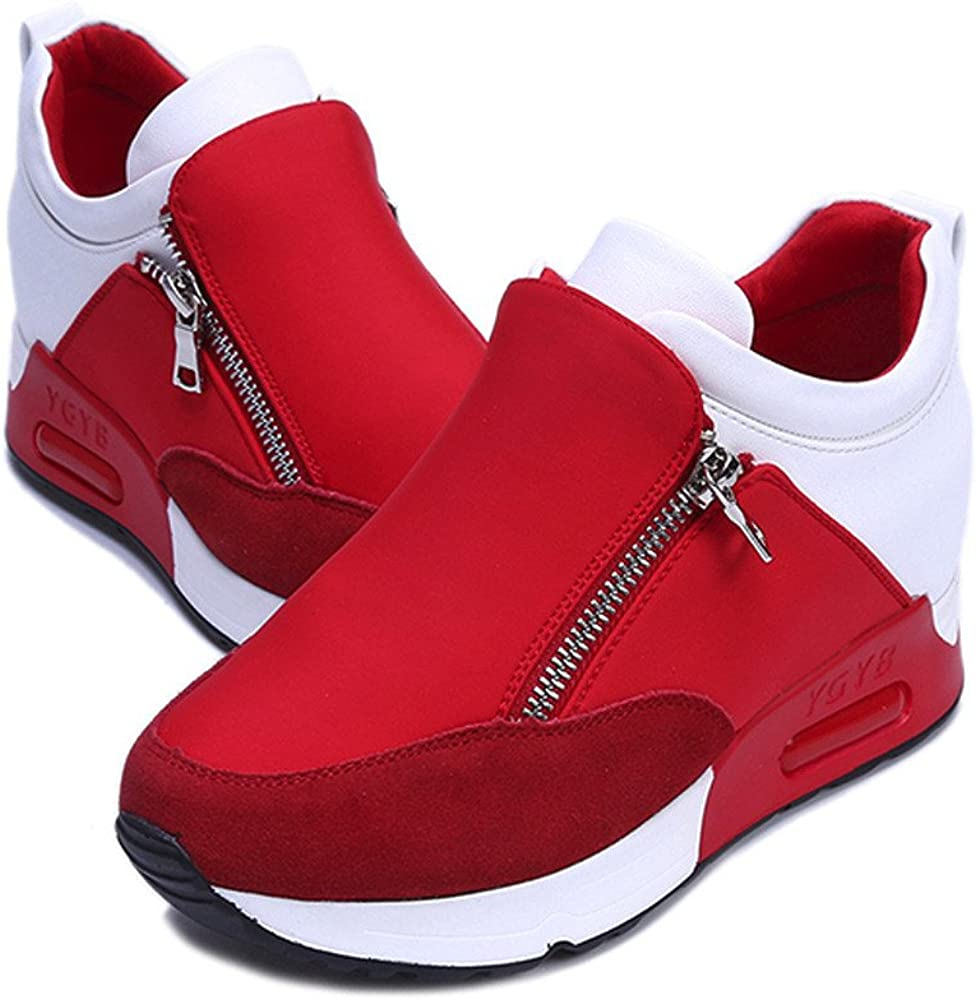 Womens Fashion Sneakers Miuye yuren Sports Running Hiking Thick Bottom Platform Shoes