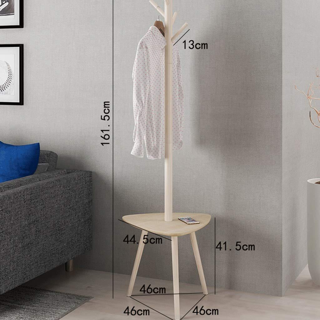 A4 Nordic Solid Wood Floor Hanging Rack Simple Coat Rack Bedroom Clothes Rack Storage Rack Rack Pine Wood Environmentally Friendly Multi-Function A+ (color   A2)
