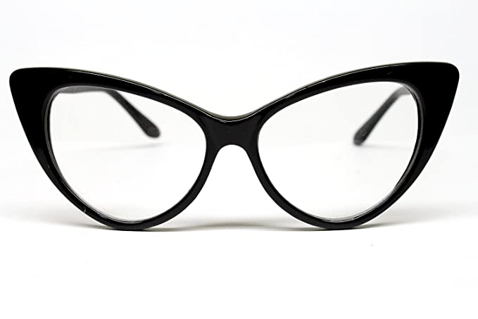 2dfcf30c02 Image Unavailable. Image not available for. Color  Vintage Cat Eye Clear Sunglasses  Eyeglasses Womens ...