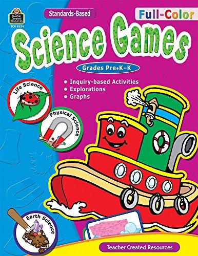 Full Color Science Games (Full-Color Science Games, PreK-K)