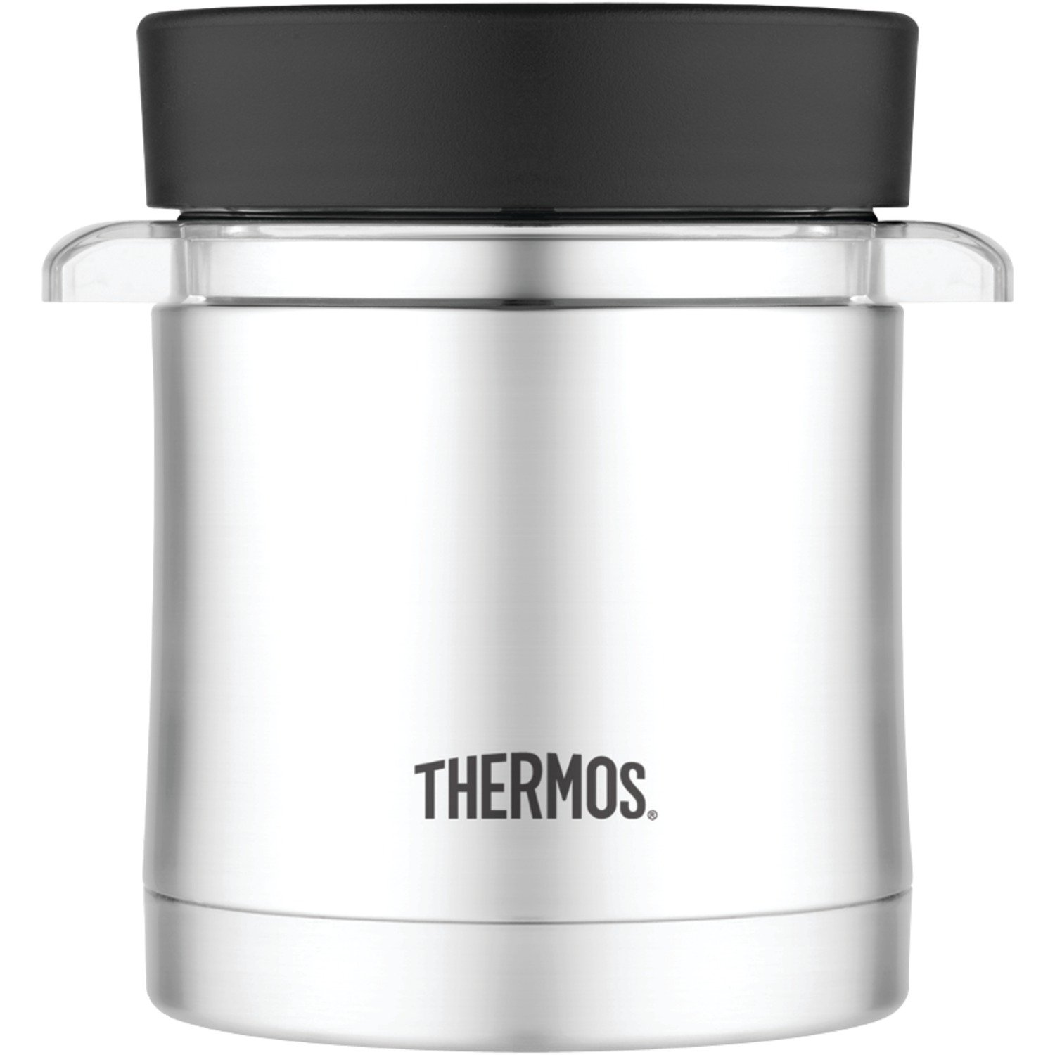 Thermos Food Jar with Microwavable Container, 12-Ounce, Stainless Steel