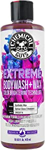 Chemical Guys CWS_107 Extreme Bodywash & Wax Car Wash Soap with Color Brightening Technology, 16. Fluid_Ounces