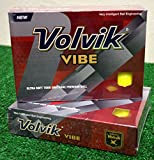 3 Dozen Volvik Vibe Yellow Golf Balls - New in Box