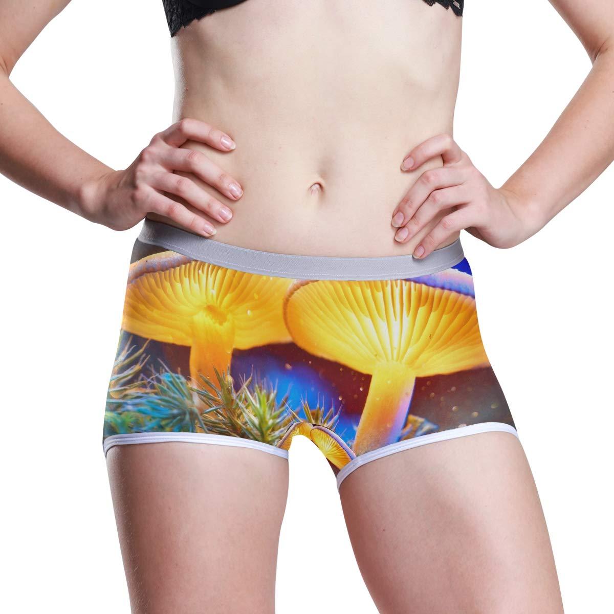 DERLONKAJE Boyshort Panties Womens Lavender Giraffe Purple Soft Underwear Briefs