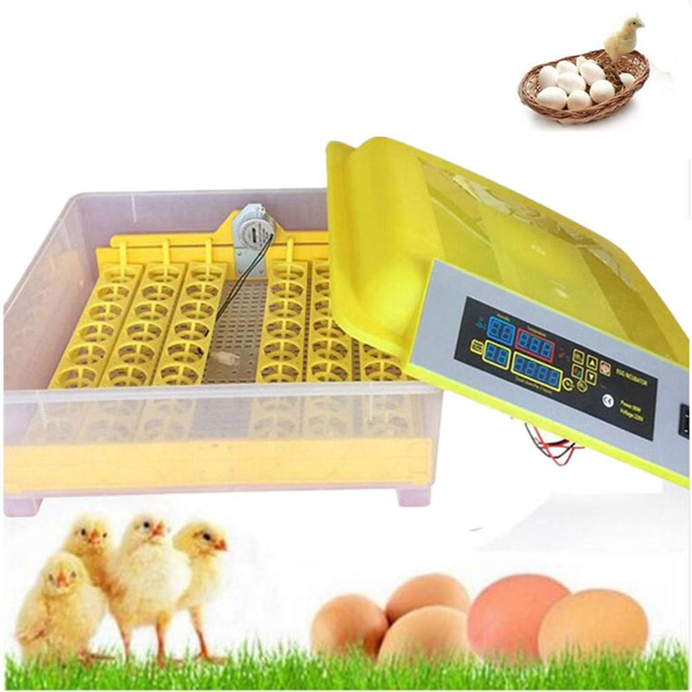 GGYJC 48 Eggs Incubator Industrial for Chicken Automatic Digital Egg Turner Hatching Tray Machine Poultry Hatcher Home Equipment