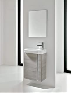 vanity and sink for small bathroom. Small Bathroom Vanity Cabinet  Sink and Mirror Wall Hung 18 Ceramic Amazon com