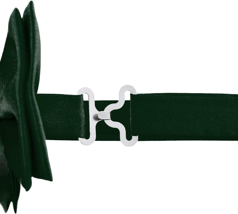 DonDon Herren 3,5 cm breiter Hosentr/äger in Y-Form elastisch und verstellbar im 2er Set mit farblich passender Fliege 12 x 6 cm
