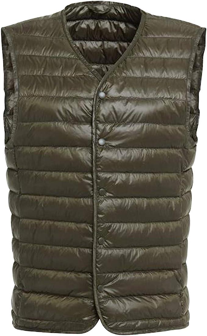 Men Winter Light Weight Down Waistcoat Puffer Gilet Vest Coat Soft Padded Casual
